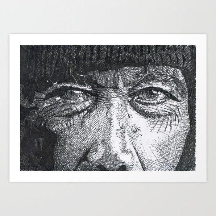 Homeless man1 Art Print
