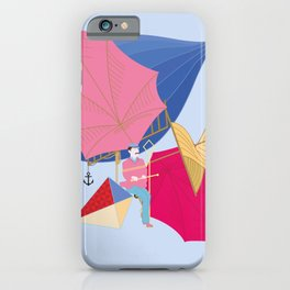 Flying Machine Air Balloon Skycycle Victorian Aircraft iPhone Case