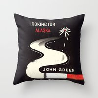 looking for alaska Throw Pillows featuring Looking for Alaska by Risa Rodil