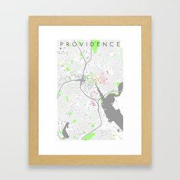 Providence Map Poster Framed Art Print