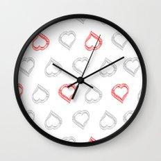 Hearts II Wall Clock