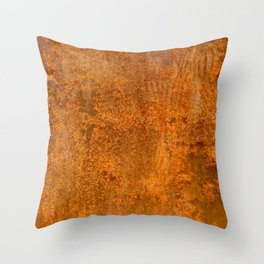 Abstract Rust Wall Throw Pillow