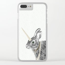 uni-hare All animals are magical Clear iPhone Case