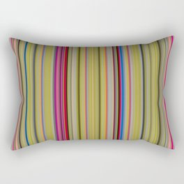 Colorful Stripes Barcode 1 Rectangular Pillow