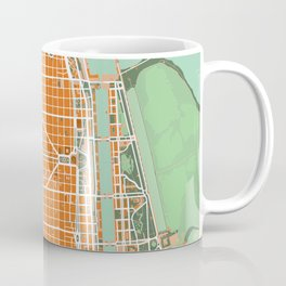 Buenos Aires city map orange Coffee Mug