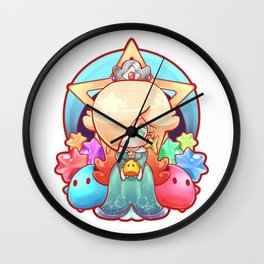 Rosalina Badge Wall Clock