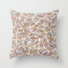 Candy coloured petal pattern Throw Pillow