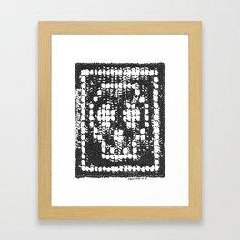 Crochet Impressions: SKULL Framed Art Print