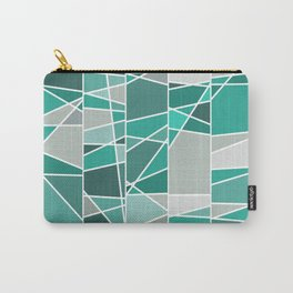 Turquoise and grey Carry-All Pouch