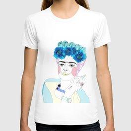 frida kahlo septum T-shirt