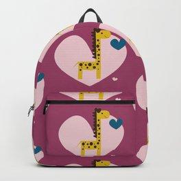 Giraffe Pink Backpack