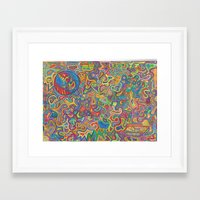 grateful dead Framed Art Prints featuring Grateful Dead by Lily's Drawing Pad
