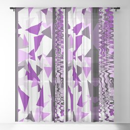 violet Fantasy stripes pattern Sheer Curtain