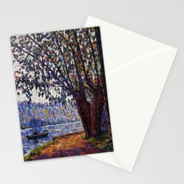 Sunlight on the Banks of the Loing French autumn landscape by Francis Picabia Stationery Cards