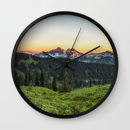 Looking Towards Tatoosh Range Wall Clock