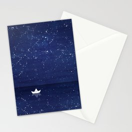 Zen sailing, ocean, stars Stationery Cards