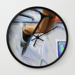 Downhill Run - Stunt Scooter Rider Wall Clock