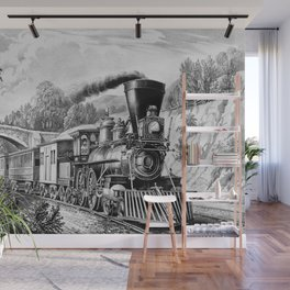 The Express Train: Currier & Ives 1870 Wall Mural
