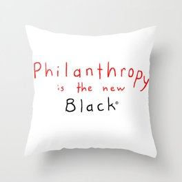 philanthropy squished Throw Pillow