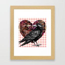 Raven - Heart Framed Art Print