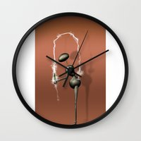 kardashian Wall Clocks featuring AntWoman doing KimK by AntWoman