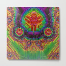 Dynamic Circuitry Metal Print