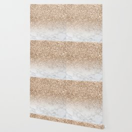 Sparkle - Gold Glitter and Marble Wallpaper