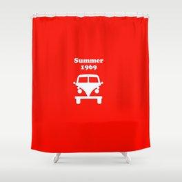 Summer 1969 - red Shower Curtain