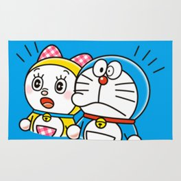 Doraemon with Dorami Rug