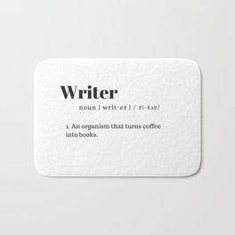 Define Writer Bath Mat