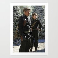 peggy carter Art Prints featuring Jack Thompson & Peggy Carter. by agentcarter23