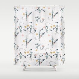 Happy cats III Shower Curtain