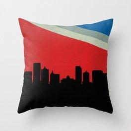 Atlantic City Skyline Throw Pillow