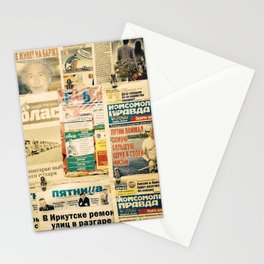 Russian newspapers Stationery Cards