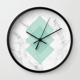 Marble Scandinavian Design Geometric Squares Wall Clock