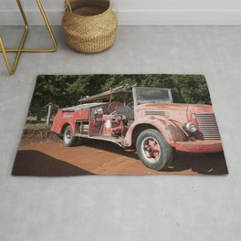 Old Fire Truck Rug
