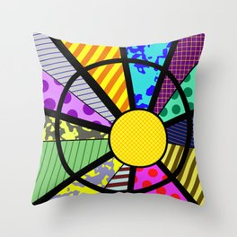 SUNRISE - RETRO, GEOMETRIC, FUN DESIGN Throw Pillow