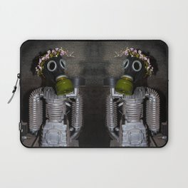 Household robot with gasmask Laptop Sleeve