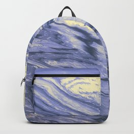 Lavender Marble With Cream Swirls Backpack