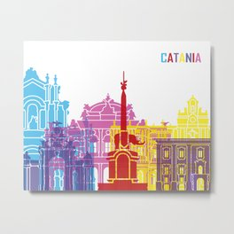Catania skyline pop Metal Print