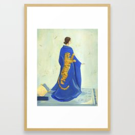 Tiger Kimono Framed Art Print