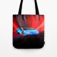 lamborghini Tote Bags featuring Lamborghini Huracán by JT Digital Art