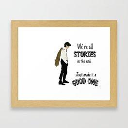 Doctor- Stories Framed Art Print