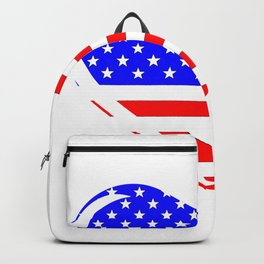 Stars and Stripes Heart Backpack