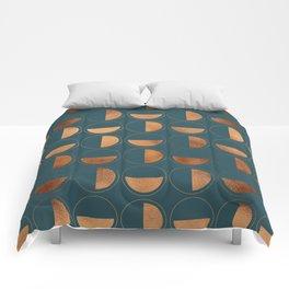 Copper Circles Art Deco on Emerald Comforters