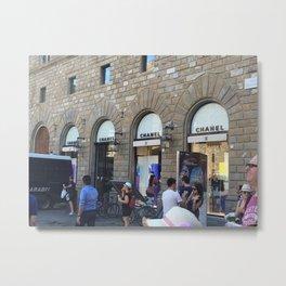 Street Fashion in Italy Metal Print