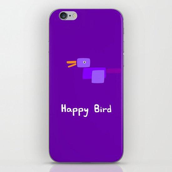 Happy Bird-Purple iPhone & iPod Skin