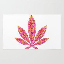 Flowering Ganja Leaf Rug