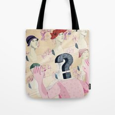 It's all in your head. Question series Tote Bag