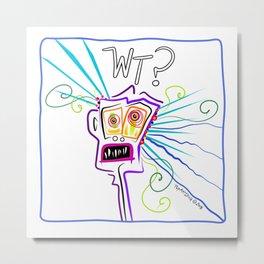 WHAT THE ?? EMOJI Meemogie Art Metal Print